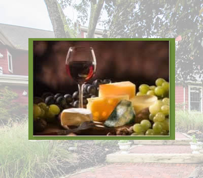 inn at laurita winery bed and breakfast new jersey - wine and cheese
