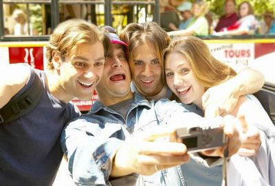 foursome with selfie
